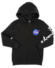 Arcade Styles - Full Zip Fleece Hoodie W/ Embroidery Patch (8-20)-2406081