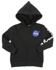 Hoodies - Full Zip Fleece Hoodie W/ Embroidery Patch (4-7)-2406032