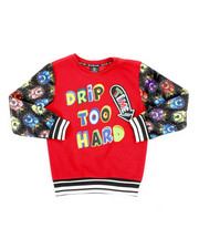 SWITCH - Drip Too Hard Printed Pullover W/ Velour Sleeve (8-20)-2407991