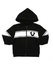 Hoodies - True Religion Logo Stripe Hoodie (2T-4T)-2405918