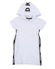 Girls - French Terry Dress W/ Side Tape & Onseam Pockets (4-6X)-2406313