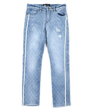 Jeans - Destructed W/Piping Denim Jeans (8-18)-2408168
