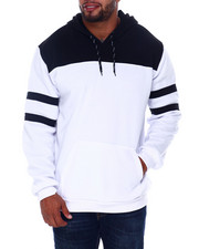 Buyers Picks - Solid Color Blocked Fleece Pullovers (B&T)-2407964