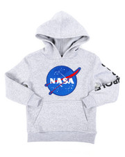 Hoodies - Southpole x NASA Pullover Fleece Hoodie W/ Chenille Patch (4-7)-2406110