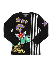 Boys - Graphic Long Sleeve Tee W/ Velvet Patch (8-20)-2406914