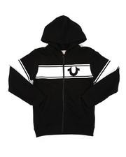 True Religion - True Religion Logo Stripe Hoodie (8-20)-2405932