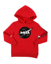 Hoodies - Southpole x NASA Pullover Fleece Hoodie W/ Chenille Patch (4-7)-2406105