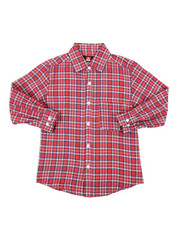 Button-downs - Yarn Dyed Plaid Woven Shirt (8-18)-2406926