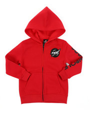 Hoodies - Full Zip Fleece Hoodie W/ Embroidery Patch (4-7)-2406058