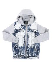 Denim Jackets - Hooded Denim Jacket (8-20)-2407002