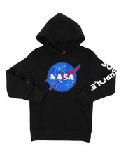 Hoodies - Southpole x NASA Pullover Fleece Hoodie W/ Chenille Patch (8-20)-2406100