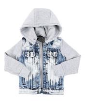 Denim Jackets - Hooded Denim Jacket (4-7)-2406997