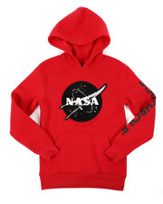 Hoodies - Pullover Fleece Hoodie W/ Chenille Patch (8-20)-2406131