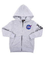 Hoodies - Full Zip Fleece Hoodie W/ Embroidery Patch (4-7)-2406024