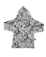 Boys - Long Sleeve Raglan Hooded Tee W/ Cracked Print (4-7)-2407447