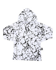 Boys - Long Sleeve Raglan Hooded Tee W/ Cracked Print (4-7)-2407470