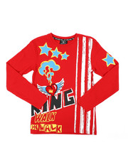 SWITCH - Graphic Long Sleeve Tee W/ Velvet Patch (8-20)-2407790