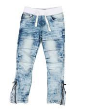Boys - Pull On Rib Jeans (4-7)-2408996