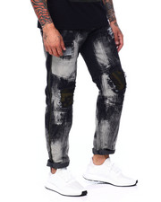 Buyers Picks - Black Distressed Seam Panel Jean-2407440