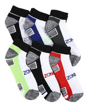 DRJ SOCK SHOP - Six Pack Quarter Socks-2408830