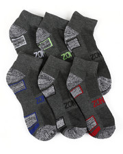 DRJ SOCK SHOP - Six Pack Quarter Socks-2408822