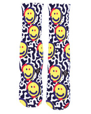 SAVVY SOX - Graffiti Smile Crew Socks-2408617