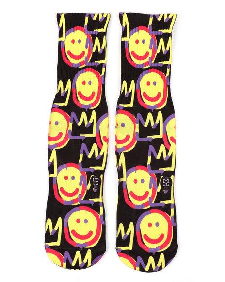 SAVVY SOX - Graffiti Smile Crew Socks