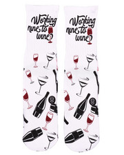 SAVVY SOX - Nine To Wine Crew Socks-2408618