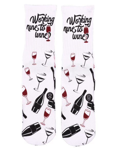 SAVVY SOX - Nine To Wine Crew Socks