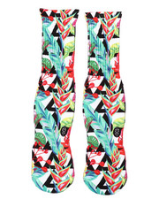 SAVVY SOX - Hawaiian Flowers Crew Socks-2408695