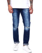 Jeans - Slim Fit Stretch DARK RIPPED Jean-2407400