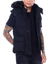 Jordan Craig - Faux Fur Quilted Vest-2407324