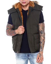 Vests - Faux Fur Quilted Vest-2407355