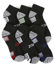 DRJ SOCK SHOP - Six Pack Quarter Socks-2408823