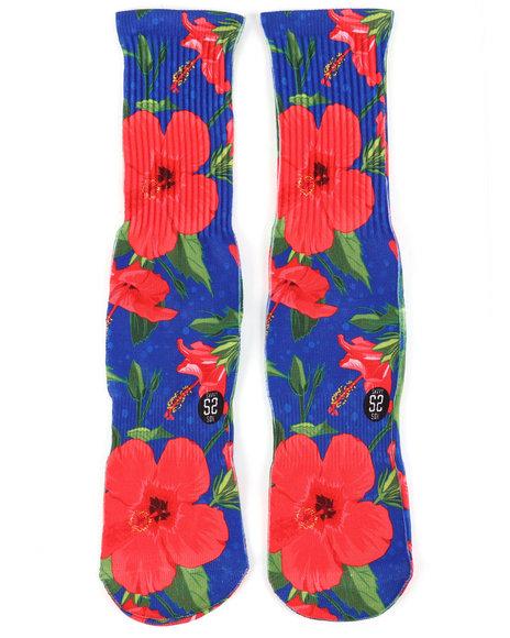SAVVY SOX - Hawaiian Flowers Crew Socks
