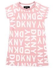 Dresses - DKNY Knit Logo Dress W/ Onseam Pockets (4-6X)-2408326