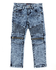 Phat Farm - Fashion Cut & Sew Moto Denim Jeans (4-7)-2408311