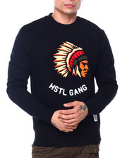 Hustle Gang - big chief crew  sweatshirt-2408537