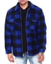 Buyers Picks - Buffalo Plaid Fleece Sherpa Lined Zip Jacket-2407756
