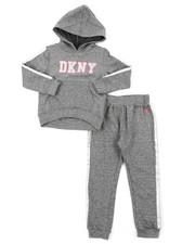 Girls - DKNY 2PC Hoodie & Track Pants Set (2T-4T)-2406504