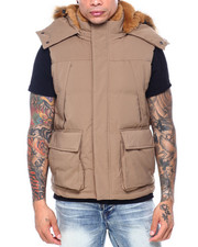 Vests - Faux Fur Quilted Vest-2407342
