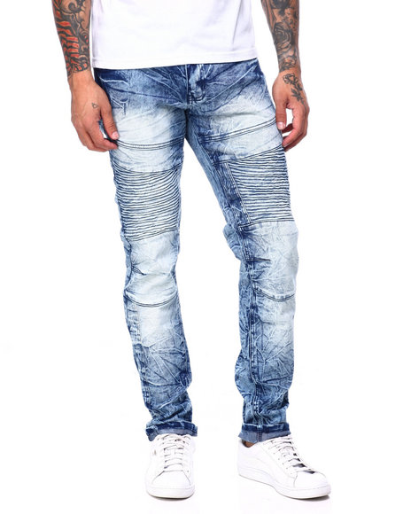 Buyers Picks - SNOW WASH ARTICULATED KNEE MOTO JEAN
