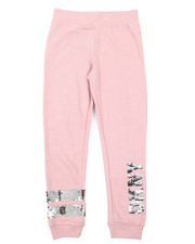 Girls - Flip Sequins DKNY Logo Jogger Pants (7-16)-2408346