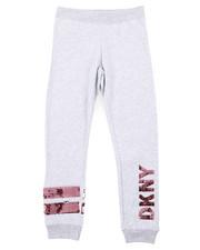 Bottoms - Flip Sequins DKNY Logo Jogger Pants (7-16)-2408341