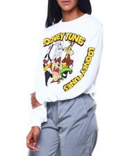 Graphix Gallery - Looney Tunes L/S Oversized Print Crop Tee-2406275
