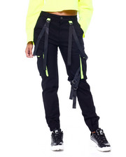 Red Fox - Side Neon Cargo Jogger w/ Strap-2408005