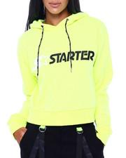 Hoodies - Cropped Hooded Sweatshirt-2409156
