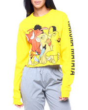 Graphix Gallery - Lion KIng L/S Oversized Print Crop Tee-2407996