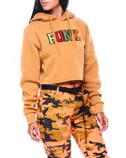 "Red Fox - Chenille ""Funk"" Crop Fleece Hoodie-2408082"