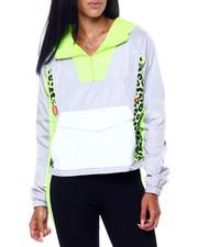 Women - Half Zip Colorblock Windbreaker-2409225